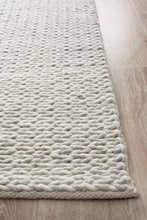 Afroza 321 Silver Wool and Viscose Rug - star-rugs