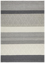 Afroza 324 Silver Wool and Viscose Rug - star-rugs