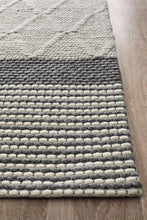 Afroza 324 Silver Wool and Viscose Rug