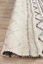 Afroza 326 White Wool and Viscose Rug - star-rugs