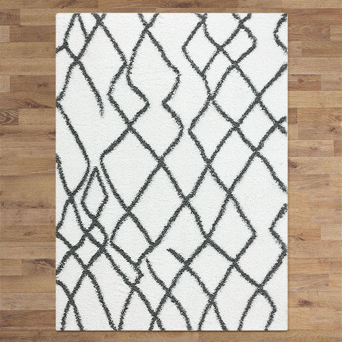 Sorento 346 cream soft Shaggy Rug