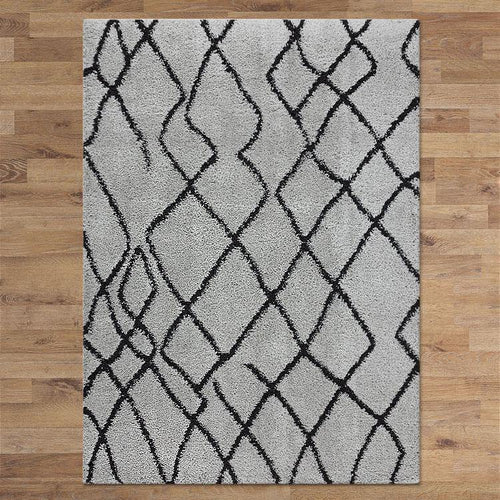Sorento 346 Grey soft Shaggy Rug