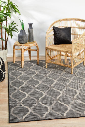 Outdoor Terrace  Black Rug