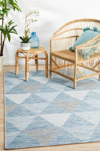 Outdoor Terrace  Blue Rug