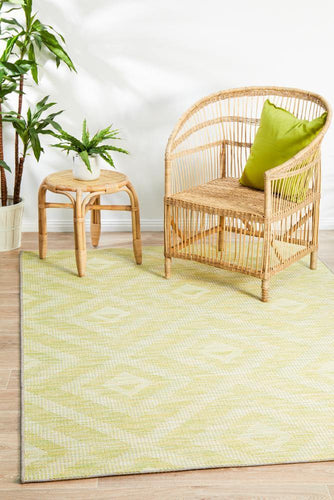 Outdoor Terrace  Green Rug