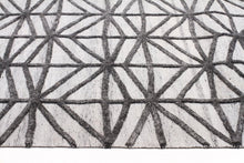 Fantasy 5053 Pewter Wool and Viscose Rug