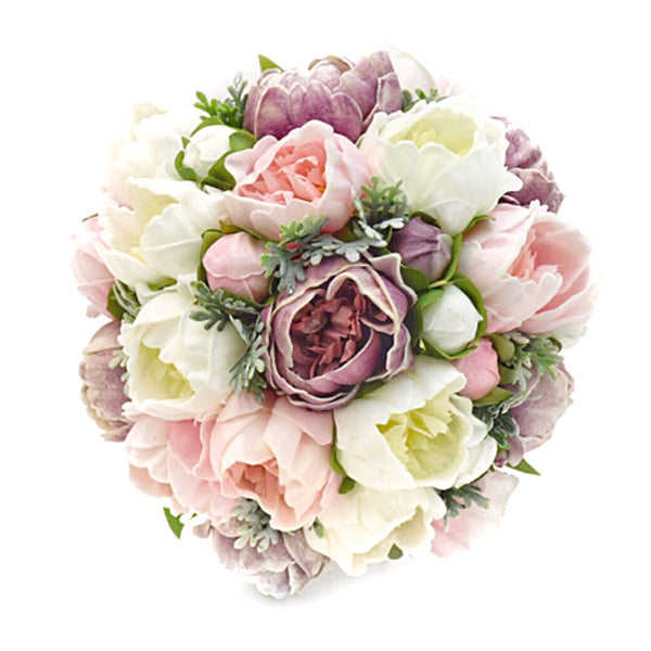 Stemple Real Touch Artificial Flower Arrangements. Featuring White,Light Pink,Lavender Peonies,Dusty Miller and your color choice of vase. Great prices, free domestic shipping.