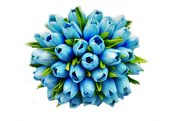 Stemple Real Touch Artificial Flowers Blue Turquoise Tulips by the stem . Great prices, free domestic shipping.
