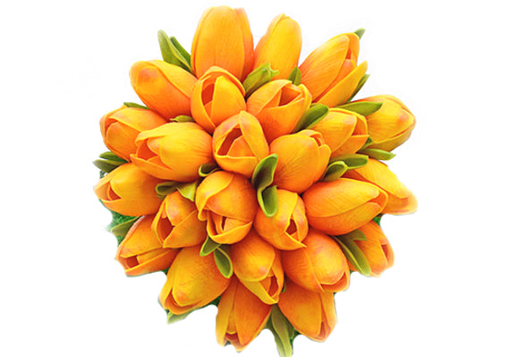 Stemple Real Touch Artificial Flowers Orange Sunset Tulips by the stem. Great prices, free domestic shipping.