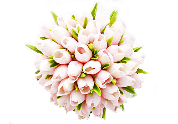 Stemple Real Touch Artificial Flowers Blush Pink Tulips by the stem . Great prices, free domestic shipping.