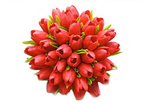 Stemple Real Touch Artificial Flowers Red Tulips by the stem. Great prices, free domestic shipping.