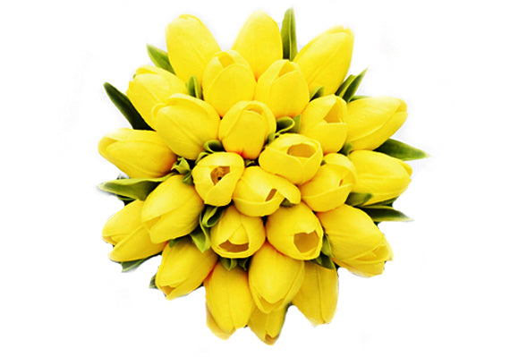 Stemple Real Touch Artificial Flowers Yellow Tulips by the stem. Great prices, free domestic shipping.