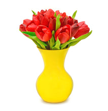 Stemple Real Touch Artificial Flower Arrangements. Featuring red tulips and your color choice of vase. Great prices, free domestic shipping.