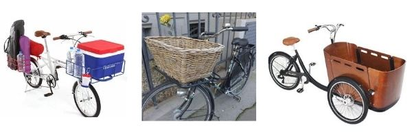 Baskets - How to carry things on a bike