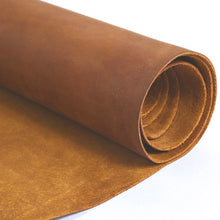 "Cowhide leather Piece for Tooling Crafting Hobby Workshop Medium Weight (about 2.0 mm) yellow brown Pre-Cut (8.7""x19.7"")"
