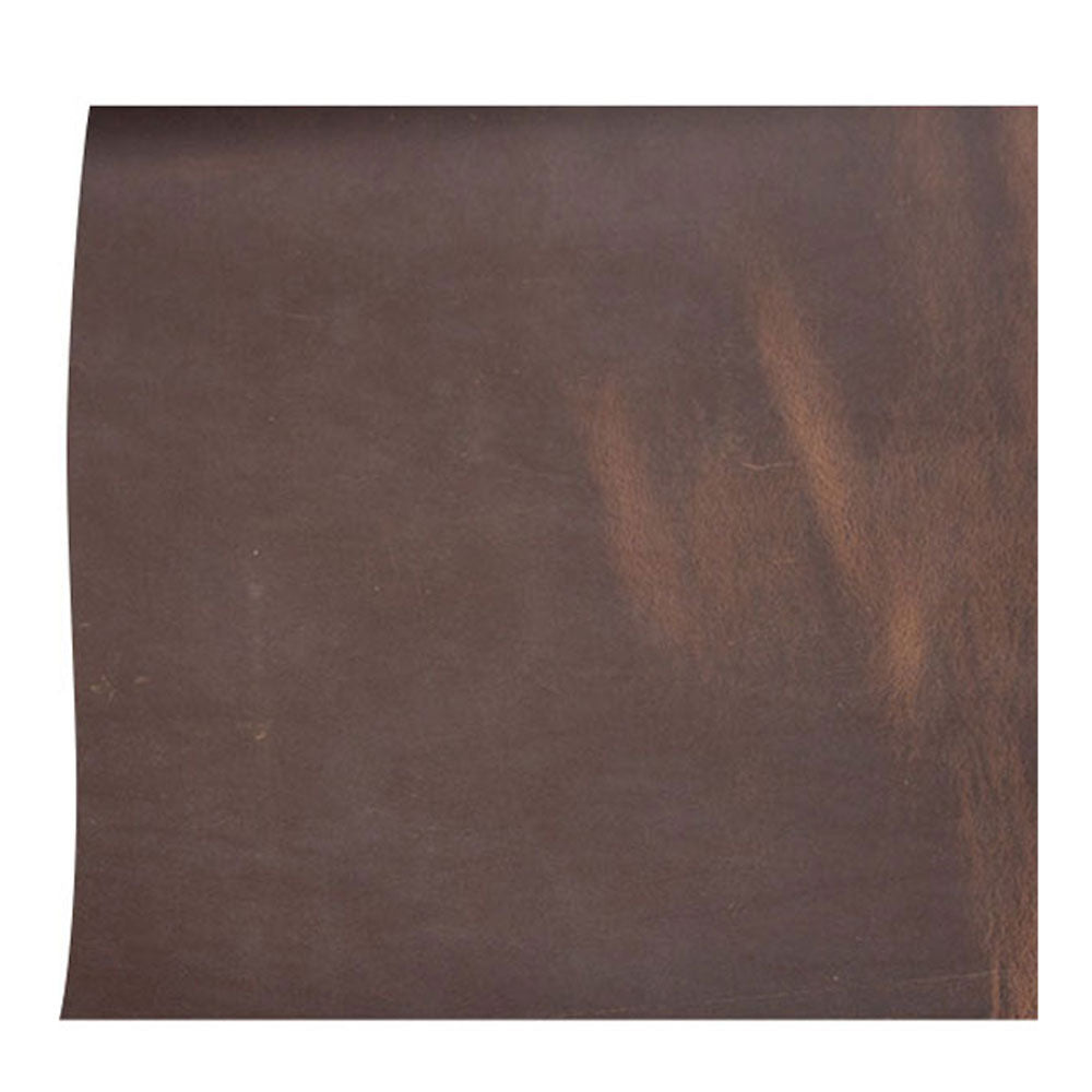Cowhide leather Piece for Tooling Crafting Hobby Workshop Medium Weight (about 2.0 mm) dark brown Pre-Cut (about 12