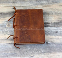 Junetree blank paper cowhide Blank Diaries Journals notebook  leather rope