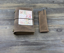 Junetree vintage Diary Notebook Journal Daily style22 blown + pen bag 2 pcs set