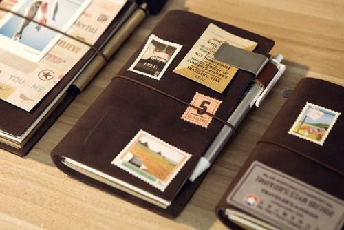 Junetree vintage Traveler's Notebook Diary Leather Cowhide diary