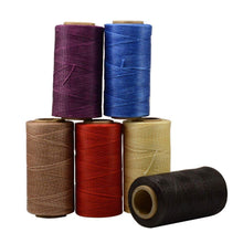 Junetree Leather Craft Sewing Waxed Thread Heavy Duty Waxed Thread Sewing Waxed Coarse Whipping Thread 1mm Leather Hand Stitching 150D 6 pcs Set