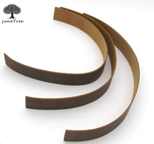 Junetree LEATHER HIDES COW SKINS thick genuine leather Strip about 2 mm thick (1-1/4 inches x14 inches) 3 of pack