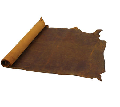 Junetree cowhide cow leather brown thick genuine leather about 2.0 mm cowhide vintage (about 50x22cm)