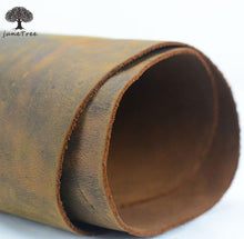 Junetree cowhide cow leather dark brown thick genuine leather about 2.0 mm cowhide vintage (about 50x 22cm)