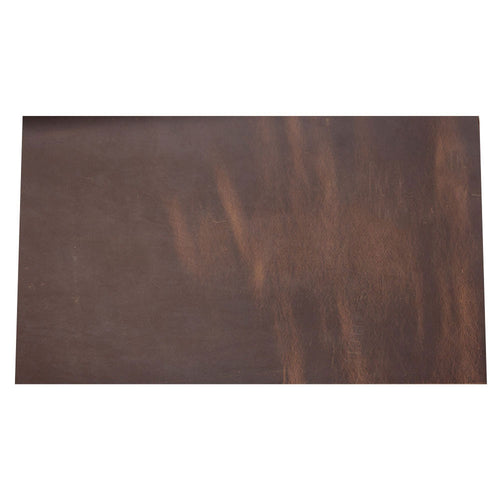 Cowhide leather Piece for Tooling Crafting Hobby Workshop Medium Weight (about 2.0 mm) dark brown Pre-Cut (8.7