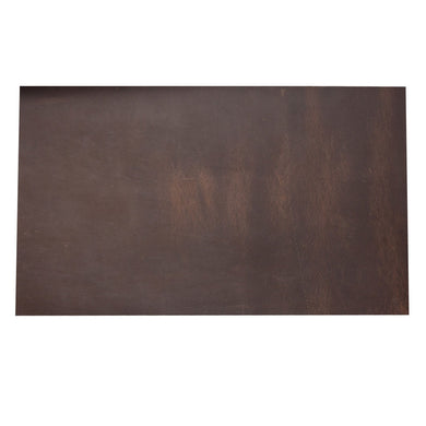 Cowhide Leather Piece for Tooling Crafting Hobby Workshop Medium Weight (About 2.0 mm) Dark Brown Pre-Cut (5.1