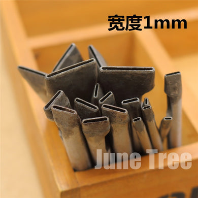 Handmade leather DIY tools strap One shape cowhide punch oval shape punch 1mm width DG0224