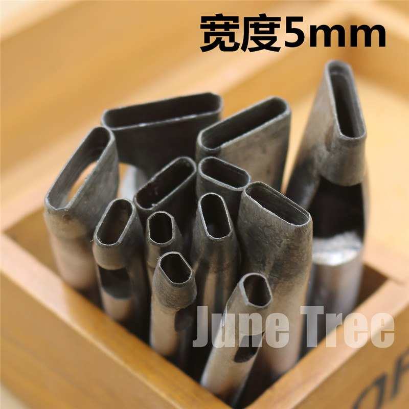 Handmade leather DIY tools strap One shape cowhide punch oval shape punch 5mm width DG0224