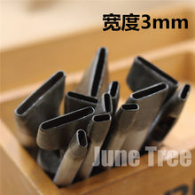 Handmade leather DIY tools strap One shape cowhide punch oval shape punch 3mm width DG0224