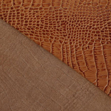 Passion Junetree LEATHER HIDES COW SKINS thick genuine leather about 1.8mm cowhide emboss yellow (8.7 * 14.1 inch)