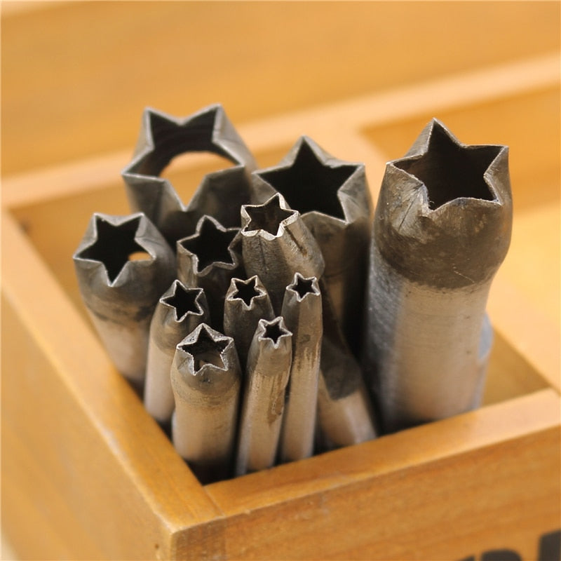 leather craft Steel Five-pointed star Tool classic stars punch for Leather Plastic Wood Belt Hole flower punch Leathercraft DGwx