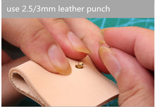 Cowhide leather handmade DIY 3mm, 4mm,8mm, 10 mm 3-15mm rivet tools punch
