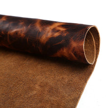 Junetree LEATHER HIDES COW SKINS brown thick first layer of genuine leather about 1.6 to 1.8 mm cowhide vintage