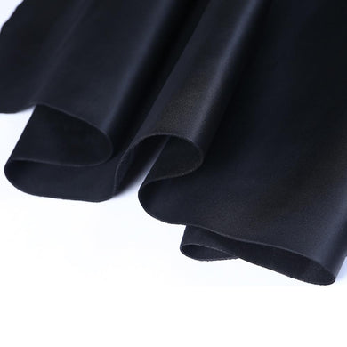Passion Junetree LEATHER HIDES COW SKINS black thick genuine leather about 2mm cowhide black 8.7* 14.1 inch /22cm*36cm