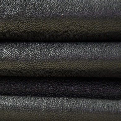 Junetree veg. tanned goat skin leather Genuine leather for leather craft shoe clothes bag thick 1.0-1.2mm black