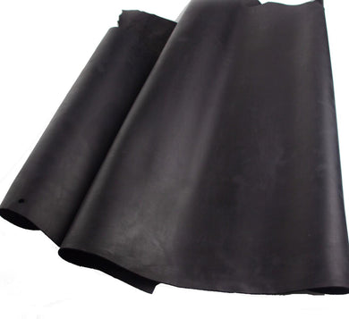 Junetree LEATHER HIDES COW SKINS thick genuine leather about 2mm cowhide black color