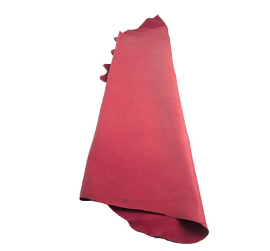 Junetree pig leather hide- pig skin genuine leather - red Colors