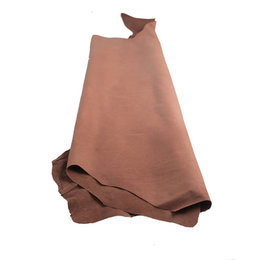 Junetree pig leather hide- pig skin genuine leather - brown Colors