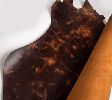 Passion Junetree LEATHER HIDES COW SKINS thick genuine leather about 2mm cowhide yellow brown color changing leather