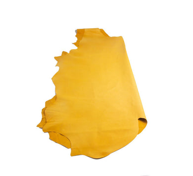 Junetree pig leather hide- pig skin genuine leather - light yellow Colors