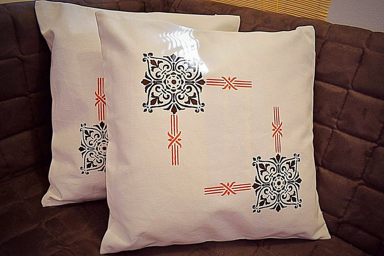 Cushion Cover Block Printed Celebration - Set of 2