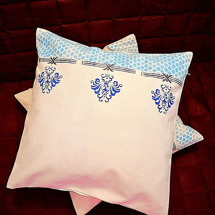 Cushion Cover- Block Printed Jaipur- Set of 2