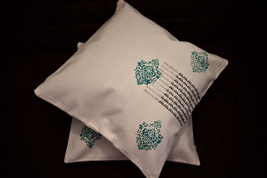 Cushion Covers Block Printed Rangoli -Set of 2