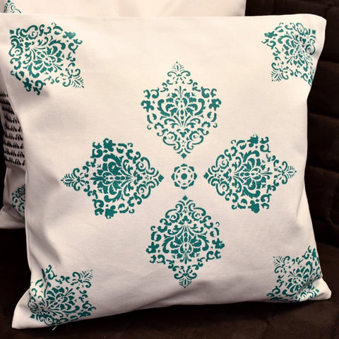 Cushion Covers Block Printed- Royal Rangoli set of 3