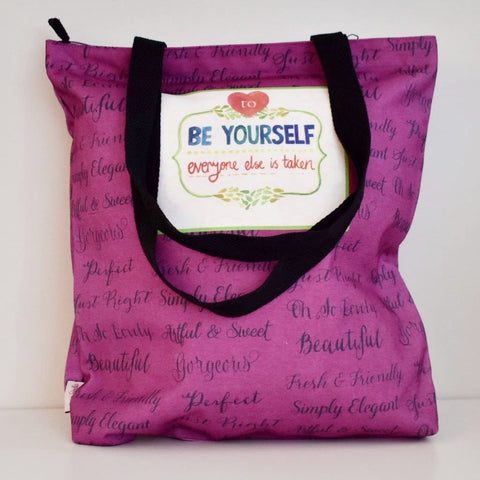 Geanta Tote din Canvas - Be Yourself