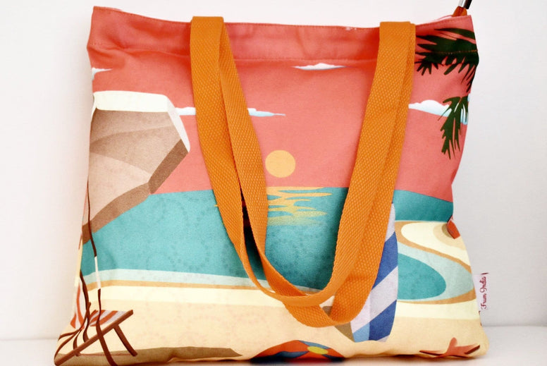 Geanta Tote din Canvas - Beach Party