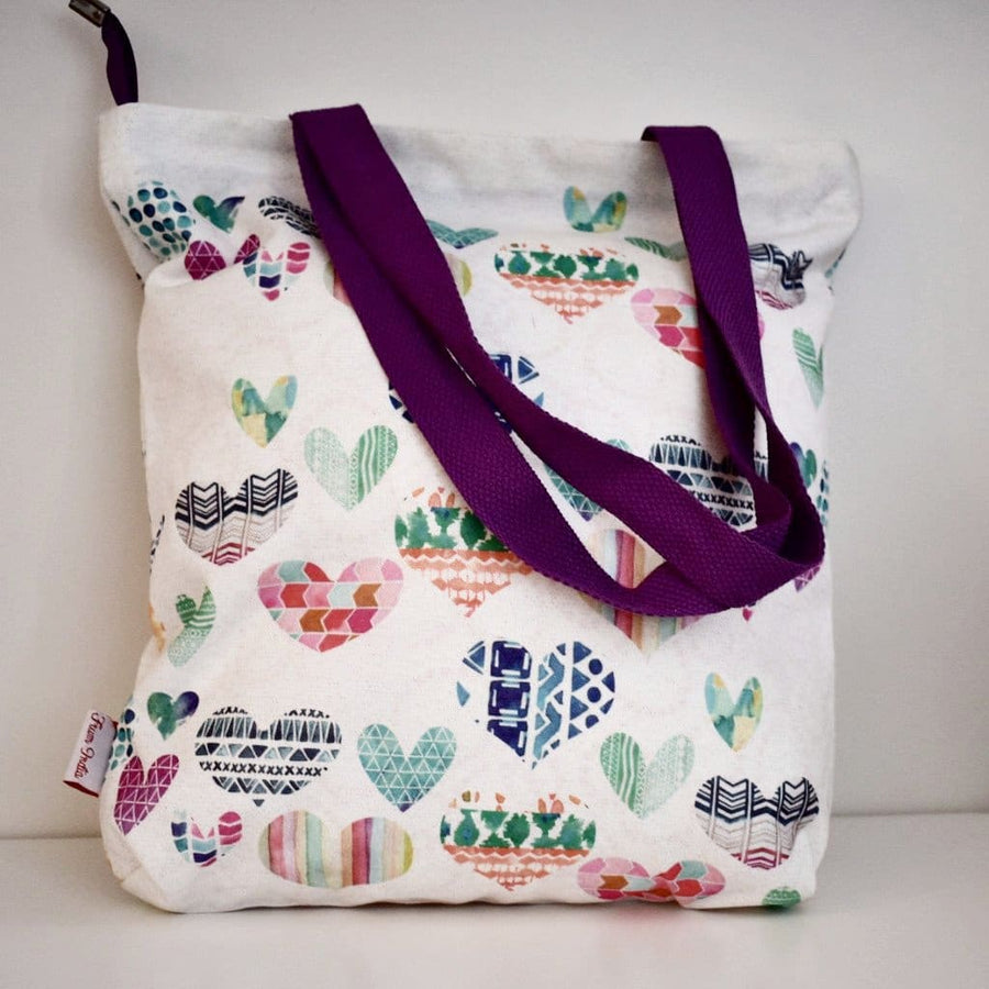 Geanta Tote din Canvas - Heart pattern